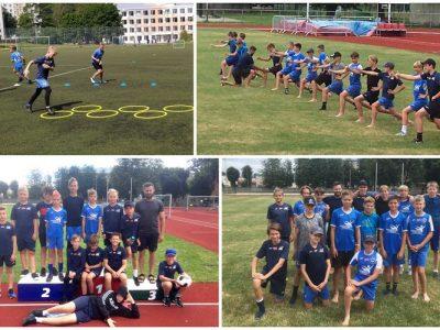 Jaunie futbolisti uzlabo fizisko sagatavotību