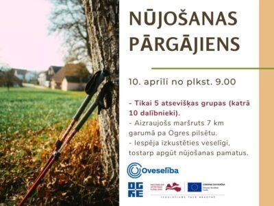 10.aprīlī Ogrē notiks nūjošanas pārgājiens